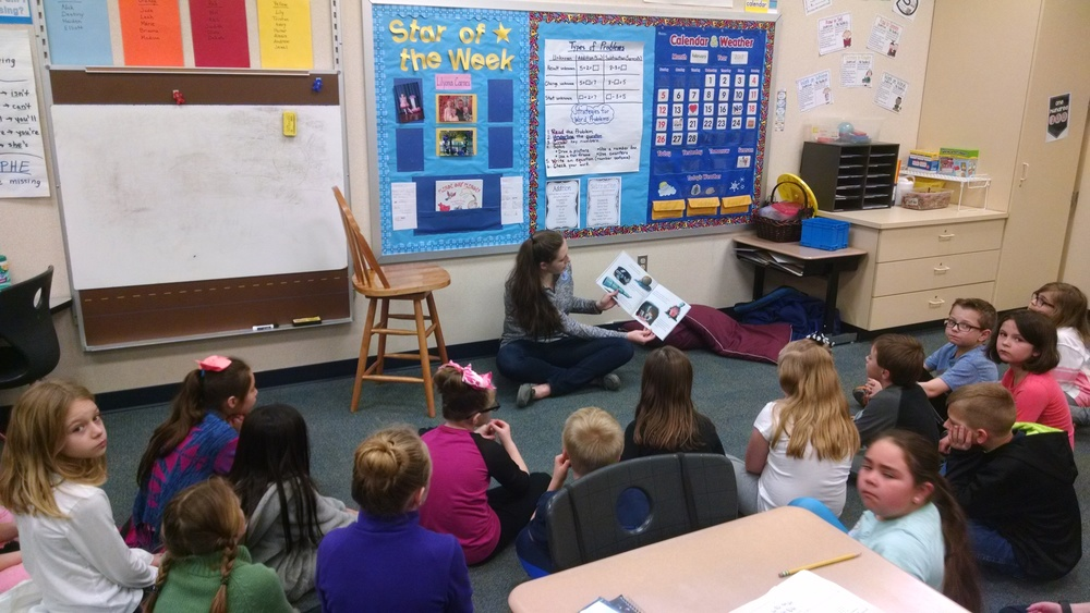 Athletes Reading at WES